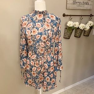 TOPSHOP Open Back Floral Dress Size 6